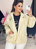Жіноча джинсова куртка бежева SKL11-289874, фото 7