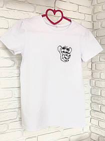 Жіноча футболка бавовна біла з принтом Jerry джеррі мишка Mouse SKL59-259639