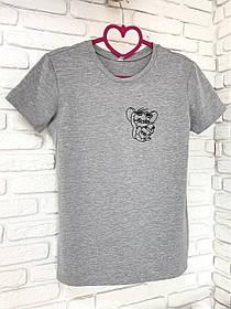 Жіноча футболка бавовна сіра з принтом Jerry джеррі мишка Mouse SKL59-259638