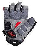 Велорукавички PowerPlay 5037 B Чорно-червоні L SKL24-144557, фото 3