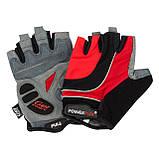 Велорукавички PowerPlay 5037 B Чорно-червоні L SKL24-144557, фото 4