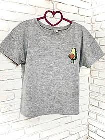 Жіноча футболка бавовна сіра з принтом Авокадо Avocado SKL59-259665