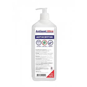 Антисептик для рук и поверхностей с дозатором Antisept Ultra 70 спирта 1 л SKL41-252490
