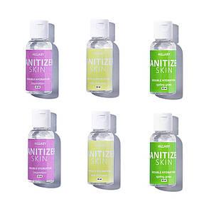 Антисептики Санитайзеры HiLLARY Skin Sanitizer Double Hydration сертифицированный 6 шт по 35 ml SKL11-239139