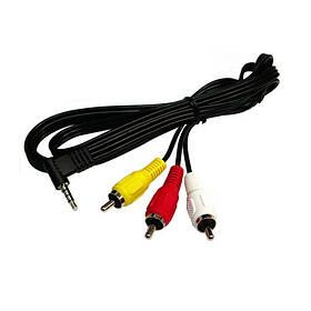 Аудіо-відео кабель Mini Jack ST 3.5 на 3RCA 1м SKL31-150839