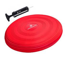 Балансировочная подушка сенсомоторная массажная Springos Pro Red SKL41-238107