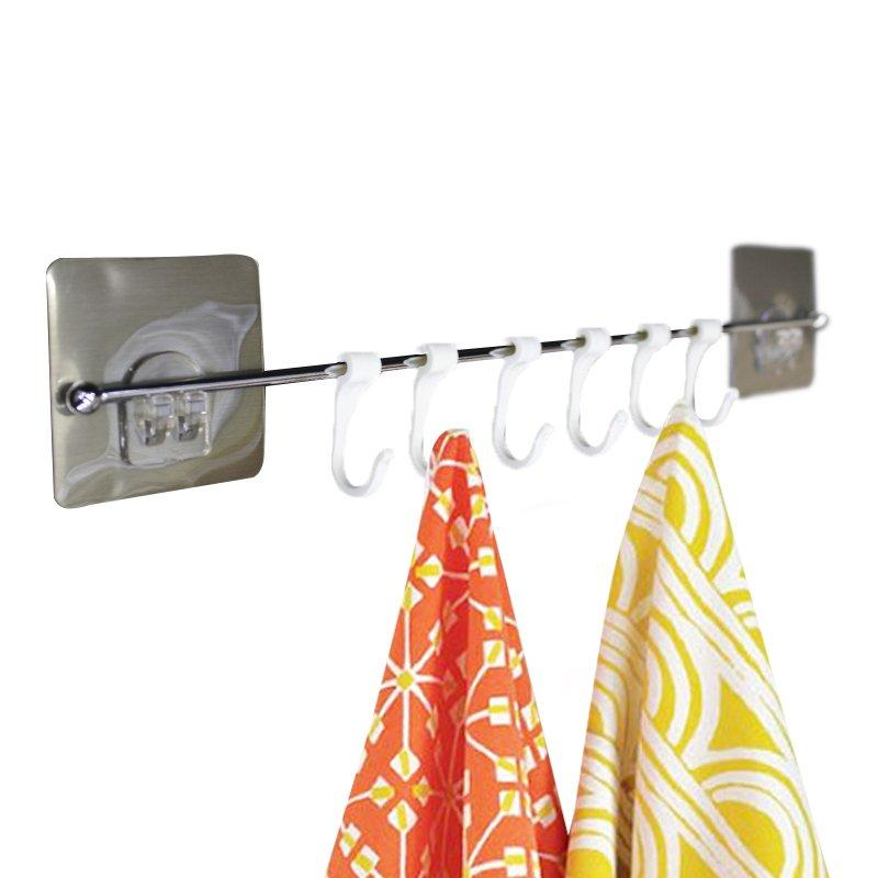 Вешалка с крючками на липучке 42 см SKL11-132851