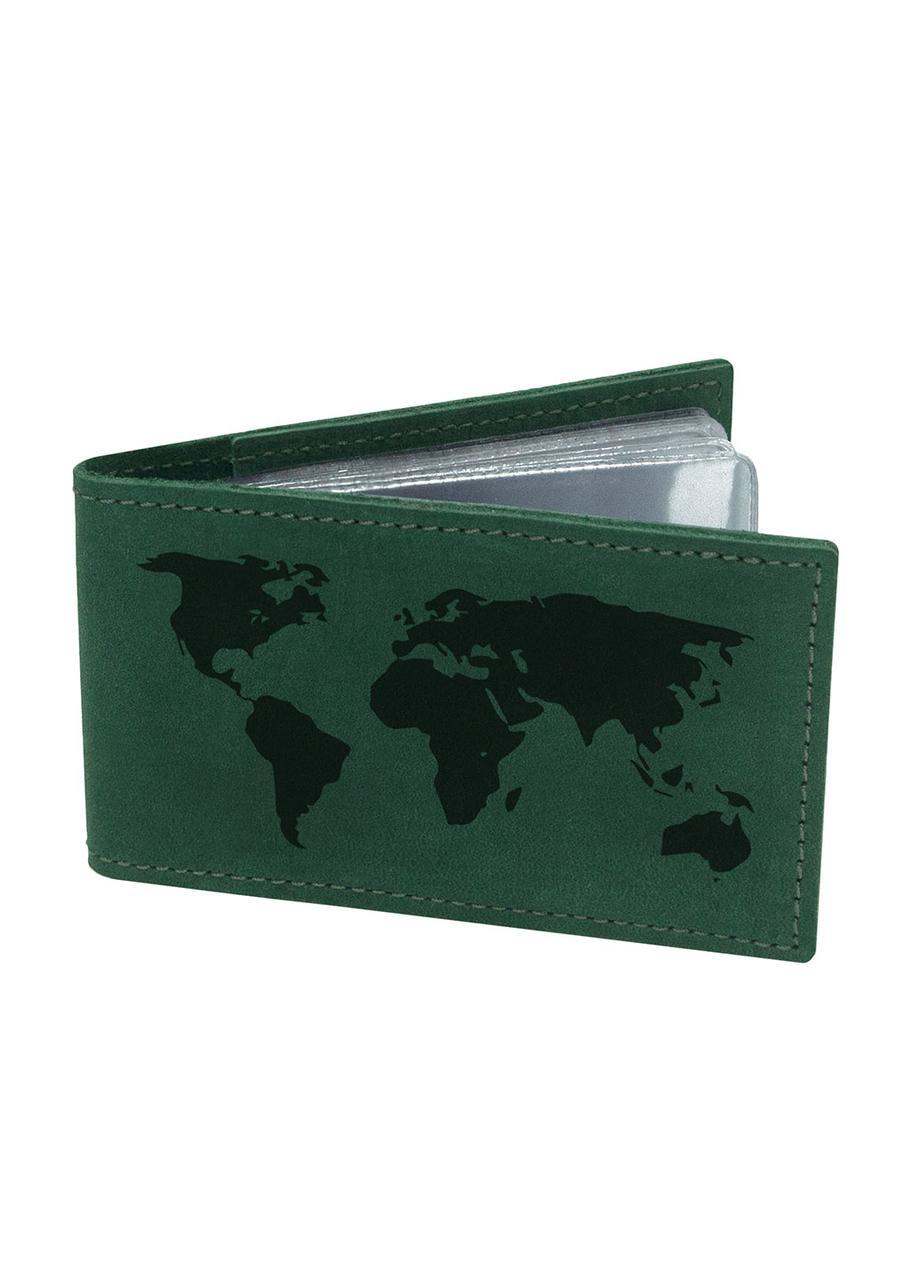 Візитниця Карта Світу М01 зелена SKL47-177650