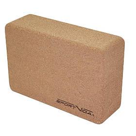 Блок для йоги c пробкового дерева SportVida SKL41-277653
