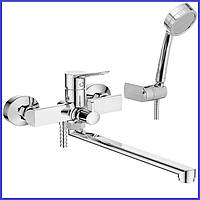 Смеситель для ванны с изливом гусаком 30 см Поворотным переключателем IBERGRIF ARIAL M13126