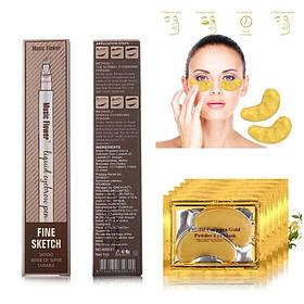 Карандаш для бровей Music Flower и в подарок Коллагеновая маска для кожи вокруг глаз SKL11-276421