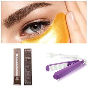 Олівець для брів в подарунок Плойка для прикореневого гофре і Маска для шкіри навколо очей SKL11-260566