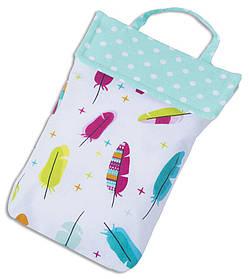 Кармашек для памперсов в сумку Organize перья E003 SKL34-176312