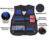 Бойовий набір для ігор зі зброєю Nerf жилет, бафф, окуляри, 20 куль, напульсник, патронташ SKL14-260967, фото 6