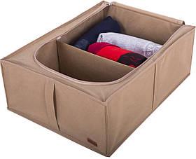Бокс для хранения вещей и обуви на 2 отделения Organize бежевый KHV-2 SKL34-176386