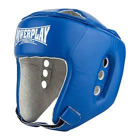 Боксерський PowerPlay шолом тренувальний синій M 3084 SKL24-190066