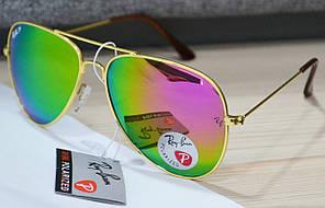 Солнцезащитные очки Ray Ban Aviator капля RB 3026P 62-14 W0197Z2 3N Оранжево-Красные (хамелеон)