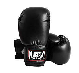 Боксерські рукавиці PowerPlay 3004 Чорні 10 унцій SKL24-143710
