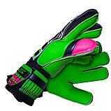 Воротарські рукавички SportVida зелені Size 6 латекс SV-PA0003 SKL41-161712, фото 2