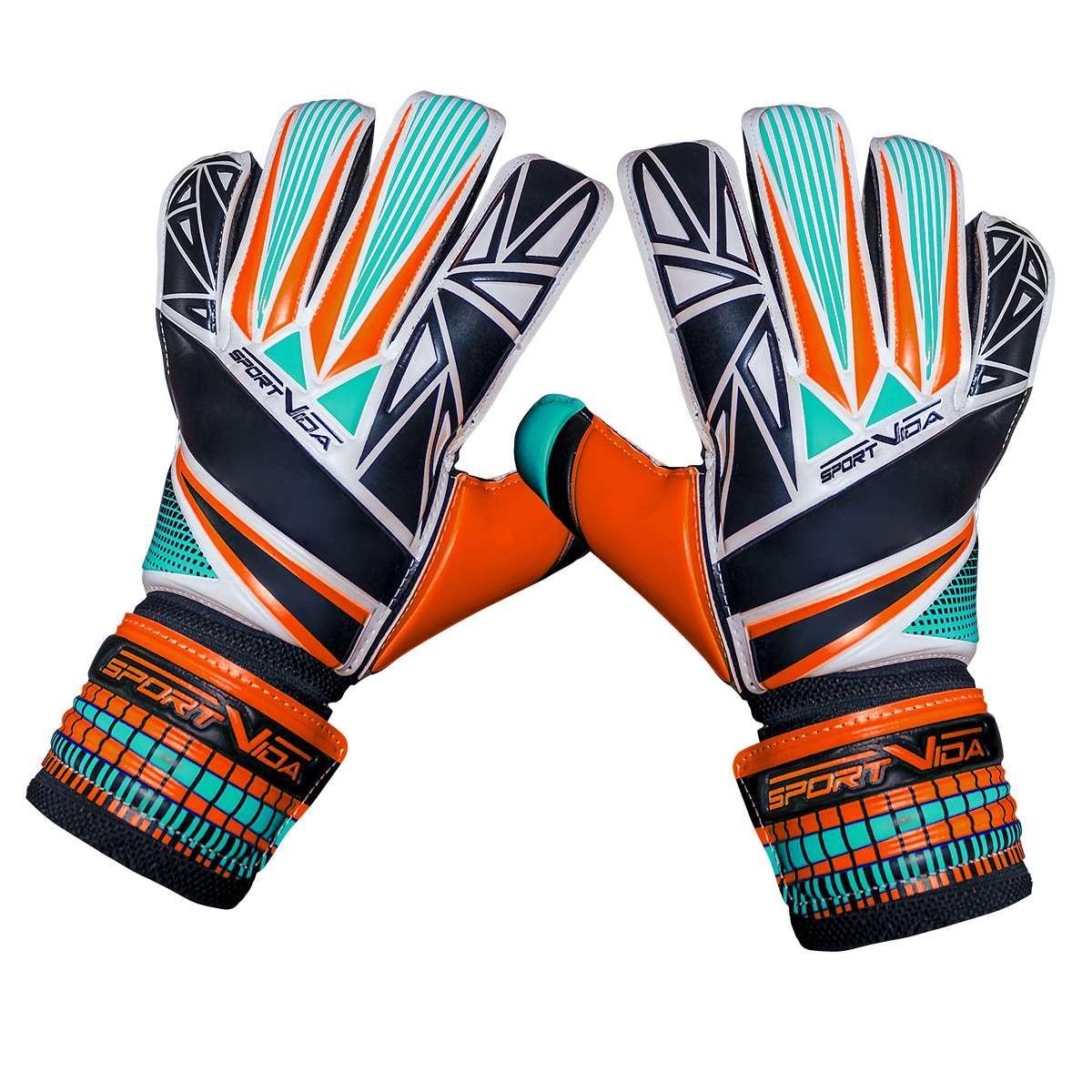 Вратарские перчатки SportVida оранжевые Size 5 латекс SV-PA0006 SKL41-160702