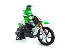 Мотоцикл Himoto Burstout MX400 Brushed масштаб 1к4 зелений SKL17-139959