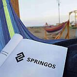 Гамак підвісний з дерев'яними перекладинами Springos 200 x 80 см SKL41-277662, фото 7