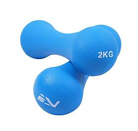 Гантели виниловые SportVida 2 по 2 кг SV-HK0031 SKL41-227173