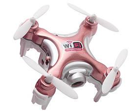 Квадрокоптер нано Cheerson CX-10WD-TX на радиоуправлениис камерою Wi-Fi рожевий SKL17-139779