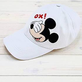 Кепка женская белая с принтом Mickey Mouse микки маус SKL59-259669