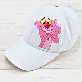 Кепка женская белая с принтом Pink Panther розовая пантера SKL59-259672