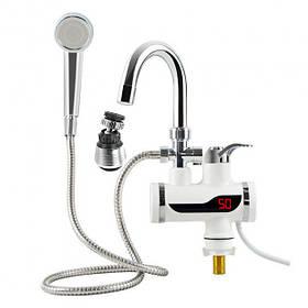 Кран-водонагреватель с душем и Lcd дисплеем 3000 Вт SKL11-178385
