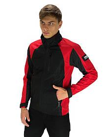 Чоловіча весняна куртка червоно-чорна SoftShell Lite iForce SKL59-259524