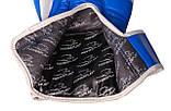 Боксерські рукавиці PowerPlay 3023 A Синьо-Білі, натуральна шкіра 16 унцій SKL24-144046, фото 7