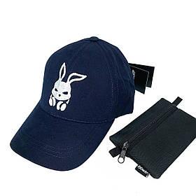 Кепка синяя брендовая bunny logo SKL59-259469