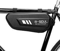 Велосипедна сумка под раму (твердая) B-Soul BAO-010 Black