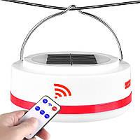Аккумуляторная кемпинговая LED лампа 8811 c Power Bank и солнечной панелью (белый и красный свет)