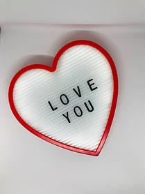 Ночник светильник Сердце Light up message board с посланием SKL32-189995