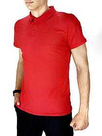Мужская футболка поло LaCosta красная SKL59-259652