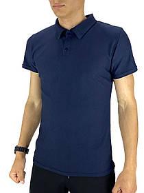 Мужская футболка поло LaCosta синяя SKL59-259651