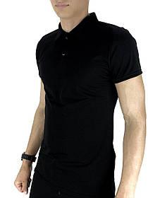 Чоловіча футболка поло LaCosta чорна SKL59-259653