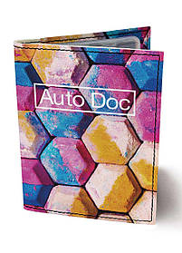 Обкладинка для автодокументів DM 0202 Плитка Холлі різнобарвна SKL47-176548