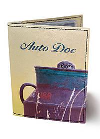 Обкладинка для автодокументів DM 0202 Сова в глечику різнобарвна SKL47-176546