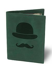 Обкладинка для автодокументів Джентльмен М01 зелена SKL47-177421