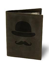 Обкладинка для автодокументів Джентльмен М01 коричнева SKL47-177405