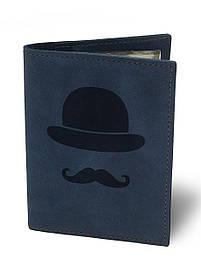 Обкладинка для автодокументів Джентльмен М01 синя SKL47-177413