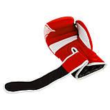 Боксерські рукавиці PowerPlay 3023 A Червоно-Білі, натуральна шкіра 16 унцій SKL24-144049, фото 7