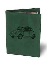 Обкладинка для автодокументів Жук М01 зелена SKL47-177418