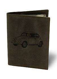 Обкладинка для автодокументів Жук М01 коричнева SKL47-177402