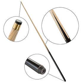 Кий більярдний не розбірний 1,6 м наконечник металевий 12мм SKL11-282128