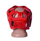 Боксерський шолом PowerPlay тренувальний 3043 Червоний XL SKL24-144059, фото 4
